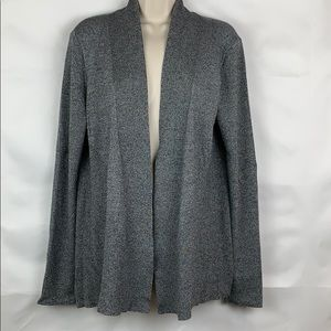 Dana Bachman grey heathered open cardigan